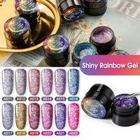 5ml Shiny Rainbow Glitter Gel Nail Polish Hybrid Varnishes For Manicure Nails Art Design Gels Polishes Top and Base Set