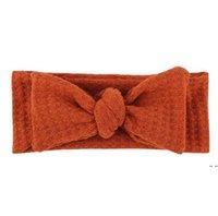어린이 토끼 귀 머리 장식 넥타이 나비 머리띠 후프 스트레치 매듭 코튼 머리띠 액세서리 유아 터번 hwc7071