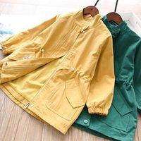 Coat Girls' Trench 2021 Baby Girls Fall Long Windbreaker Kids Zipper Children Clothes Wholesale