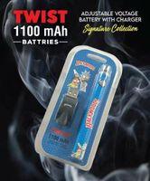 Wholesale Cookies Runtz Backwoods R and M Cartoon Vape Pen Twist Battery With Usb Charger 1100mah Adjustable Voltage Bob Marley