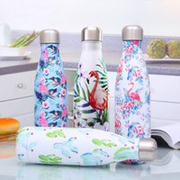 500ML Cooler Thermos Bottle Stainless Steel Water Bottle Flower Vacuum Cup Sports Biking Hiking Drinking Portable Cola Bottles