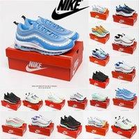 [Kutu ile] air max 97 undefeated off white 97 sean wotherspoon 97s Baskets à la mode en cuir lisse Baskets de designer pour chaussures de tennis OG Chaussures sport Rainbow Coussin