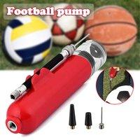 Tragbare Mini-Fahrrad-Manuelle Luftpumpe Zwei-Wege-Mini-Pumpe Basketball-Fußball-aufblasbare Röhre mit amerikanischer französischer Luftdüse