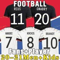 Deutschland Fussball Jersey 2020 2021 Fans Spielerversion Hummels Kroos Gnabry Werner Draxler REUS Müller Gotse European Cup Football Hemd Uniformen Männer + Kinder Kit