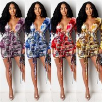 DYFTC X3700 otoño nuevo impresión temperamento correa de viaje abierto vestido de la correa de la correa de la correa de la manga larga vestido de manga larga