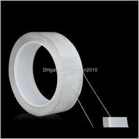 Traceless قابلة لإعادة الاستخدام على الوجهين الشريط للإزالة ملصقا قابل للغسل الأشرطة لاصق نانو عصا 1/2/3 / 5 متر 3km1w exkrh