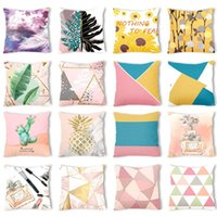 Cushion Decorative Pillow Pink Ins Fresh Plush Pillowcase Creative Nordic Sofa Cases Office Seat Cushion Cover 45 X45cm