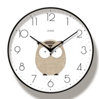 Wall Clocks Cute Animal 3D Clock Silent Movement Professional Large Size For Home Decoration Duvar Saati Living Room
