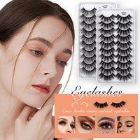 10 Pairs Faux 3D Mink Eyelash Natural Thick Fluffy False Eyelashes Handmade DIY Fake Lashes Extension Beauty Makeup Tool