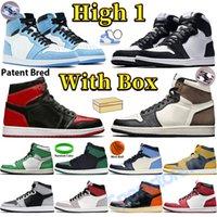 Université Blue Dark Moka High 1 Chaussures de basketball 1S Mens Sneakers Shadow Lucky Green Unc Patent Bred Twist Twist Black Pollen Hyper Royal Hommes entraîneurs