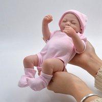 """10 """"Reborn Neugeborene Baby Puppe Schlafendes Mädchen Ganzkörper Weiches Vinyl Silikon Wasserdichte Spielzeug Weihnachten US"""