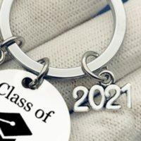 Parti Favor Bahçe Anahtarlık Sınıf Okul Üniversitesi Öğrenci Mezuniyet Hediyeler Paslanmaz Çelik Anahtarlık Kaydırma Takı Ile Mini Hediye ZZA605