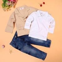 어린이 의류 가을 아기 소년 의류 세트 소년의 옷 어린이 겉옷 / 코트 + 셔츠 + 청바지 3pcs. 183 Z2 세트