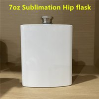 7oz Sublimation Hip flask 304 stainless steel wine kettle Fluid-tight Flask flagon for Liquor and Funnel Gift for Men