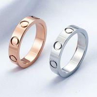 Liebesschraube Ring Ringe Klassische Luxus Designer Schmuck Für Frauen Männer Titaniumstahl Legierung vergoldet Gold Silber Rose nie verblassen Nicht allergisch