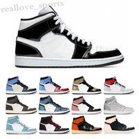NIKE air Jordan 1 RETRO 2019 New alta OG mediana Shoes Mens 1 Jogo de basquetebol reais Banido Toe Black Shadow Bred Sapato Azul Vermelho Branco baratos 1s Chicago Sports Shoes TA