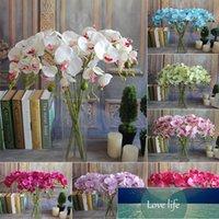 70cm 긴 8 헤드 나비 난초 Phalaenopsis 실크 꽃 홈 웨딩 장식 시뮬레이션 꽃다발 가짜 꽃 8 색