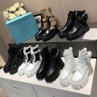 Luxus Designer Hohe Qualität Womens berühmte Schuhe Martin Stiefel Klassische Beliebte Mini Runder Kopf Offene Perle Dicke Boden Schnür Reißverschluss Tasche Zipper Größe 35-42