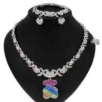Yulaili Fashion Silver Plated Xo Zircon ожерелье свадебные свадебные дизайн красивый благородный цвет драгоценности горный хрусталь