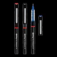 Penas de gel 1/3/6 / 12 pcs Alemanha Rotring Pen Roller Pen Reta Líquido 0.5mm Assinatura Estudante Exame do Escritório