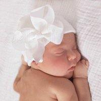 12 Estilo Newborn Big Curve Bonés Bebê Crochet Knit Caps Infantil Skull Beanie Inverno Quente Fita Listrada Bowknot Cap Hospital Hospital Chapéu RRA2222