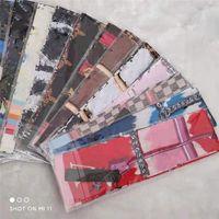 Top qualtiy zijden bandanas vrouwen sjaals lente en herfst mode floral patroon print designer sjaal dunne sjaals maat 120 * 8cm