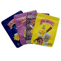 Beutel Edibles Backwoods Verpackung Gummizug Mylar Aufbewahrungstasche Verpackung Trockene Blumenbeutel Geruchssicheres Paket mit Reißverschluss Packung 3,5g 0,12 oz Exotiken 5 Honig Berp