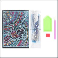Supplies Arts, Crafts Gifts Home & Gardendiy Special Shaped Painting Diary 60 Pages A5 Notebook Embroidery Diamond Cross Stitch Note Book Xm