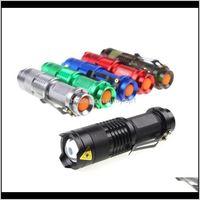 Lampes de poche Torches Focus réglables Mini Q5 1000 Lumens Lumens Lantern 14500 Torche Linterna LED Mount 154 X2 V6SV1 GP1ON