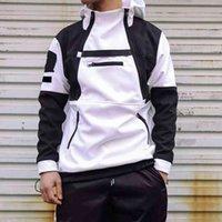 Mode Männer Windjacke Jacken Mit Kapuze Mäntel Unisex Outdoor Schwarz Weiß Grün Hip Hop Streetwear Frühling Herbst Sport Hoodies Kausal Mantel