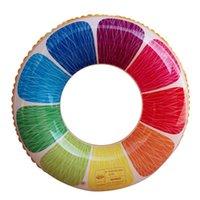 Gloats gonfiabili Tubi arcobaleno limone per adulti per adulti nuoto anello frutta colorato addensare piscina float cerchio per bambini sport acquatici SR14