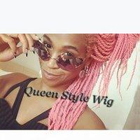 Afroamerikaner schwarzer Frauen Frisur Perücke Synthetische Twist Fostes Spitze Front Perücke Full Spitze Perücke, Senegal Lock Braid Perücken Für Schwarze Frauen