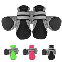 Lightweight Dog Apparel Boots Breathable with Adjustable Reflective Magic Sticker Strips and Rugged Anti-Slip Sole Outdoor Booties Pet Paw Protector Small Medium