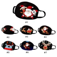 2021 Dust Mask Christmas Print Rescue Breathable Multi purpose Face Cover Reuse Mask Facemask Mascarilla Proof Mask Filter masks