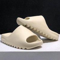 مع مربع النعال كاني الصنادل الأحذية الثلاثي الأسود الشرائح بيضاء جورب العظام الراتنج الصحراء الرمال الأرض براون رجل إمرأة West slips أحذية I1QK #
