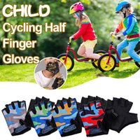 Cycling Gloves Children Riding Half-finger High Elastic Outdoor Sports Roller Skating Mountain Bike Kids Five-finger
