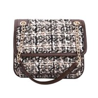 5IFv Bag Patchwork Chain Designer Shoulder Fashion Crochet Women Travel Clutch Tweed Color Luggage Plaid Duffle Purse Pghvl