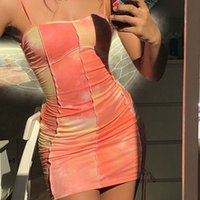 Casual Dresses Ladies Sexy Slip Tie Dye