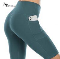 Athvotar Gym High Taille Sport Fitness Shorts Yoga Workout Laufen Kurze Hosen Frau Sommer Silm Leggings Frauen
