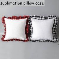 Сублимационная подушка чехол 52 * 52 см. Буффало. Крышка подушки для подушки для переноса Теплопередача. Крышка наволочки может печатать на обеих сторонах hwe6735