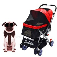 Dog Car Seat Covers Four Wheel Pet Stroller For Cat And More Foldable Carrier Strolling Cart Multiple Colors