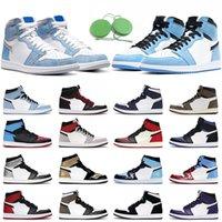 chaussures de basket-ball 1s hommes femmes1 hyper royal université bleu foncé moka twist travis scott baskets de sport pour hommes