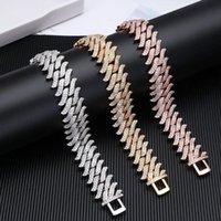 Link, Chain 2021 Luxury Bracelets For Men 20mm Cuban Link Bracelet Jewelry Full Rhinestone Trendy Necklace Hiphopc