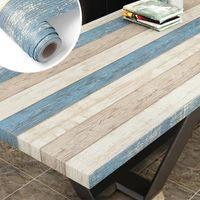 Waterproof Self Adhesive Wallpaper Contact Paper Wood For Bedroom Wardrobe Sticker Furniture Home Improvement Wallpapers
