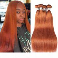 Ishow New Arrival Brazilian Hair Weave Bundles Silky Straight Orange Ginger Remy Human Hair Bundles Peruvian Human Hair Extensions