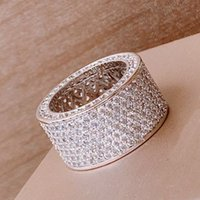 Reflection legers vintage popular diamants Rings With Side Stones wholesaler jewelry customization retro advanced 18K gold plated European sizebranddesign Ring
