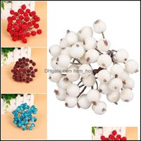Decorative Festive Supplies Home Gardendecorative Flowers & Wreaths Mini Christmas Decoration Frosted Fruit Artificial Glass Berries Stamen
