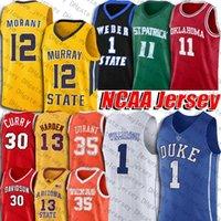 NCAA Zion 1 Duke Williamson Ja 12 Jersey Murray Murray State University Trae Kyrie Damian Jeune Irving Lillard Jersey Kevin Curry Durant