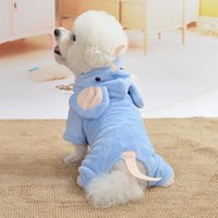 Flying Baby Elephant Pet Clothes Dog Teddy Thick Warm Four-legged Sweater Wholesale Apparel
