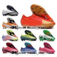 Hediye Çantası Erkek Yüksek Tops Futbol Çizmeler Ronaldo CR7 Mercurial Buharlı 13 XIII Elite AG Cleats Neymar Acc Superfly VII CR100 Futbol Ayakkabıları